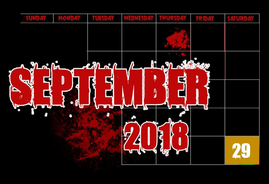 September 2018 Haunted House Dates