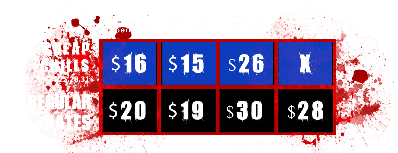 Haunted House Pricing