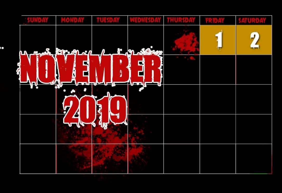 November Haunting Experience Dates