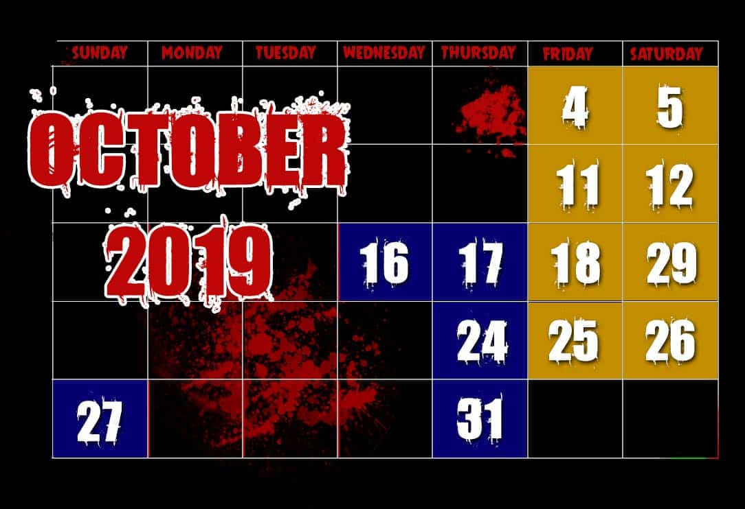 October Haunting Experience Dates