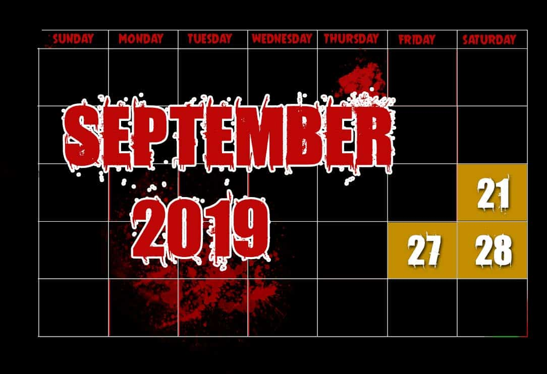September Haunting Experience Dates