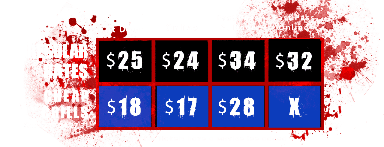 2019 Haunted House Pricing